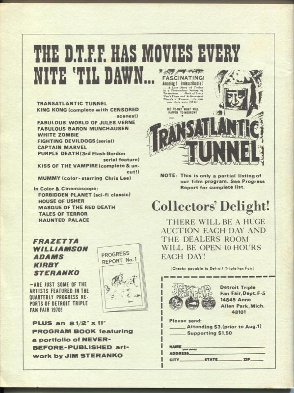 Rocket's Blast Comicollector  #70 1970-Juanill GGA cover-early fanzine-buy / sel
