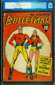 Bulletman #2 CGC 2.5-1941-Bulletgirl-Mac Raboy cover- 0012974006