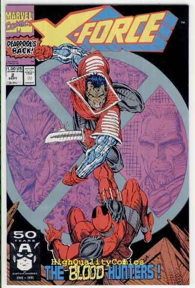 X-FORCE #2, DeadPool, Cable, ShatterStar, Nicieza, VF/NM, 1991, more XF in store