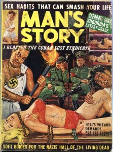MAN'S STORY-SEPT-1963-NAZI BONDAGE-WEIRD MENACE-HORROR-PULP-CHEESECAKE