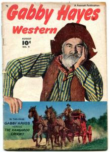 Gabby Hayes Western #9 1949- Young Falcon- Fawcett Golden Age VG