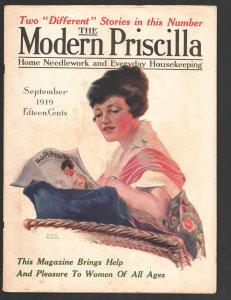 Modern Priscilla 9/1919-Harold Brett infinity cover-Vintage advertising many ...