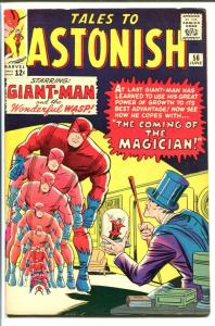 TALES TO ASTONISH #56-GIANT-MAN/WASP-THE MAGICIAN-MARVE FN/VF