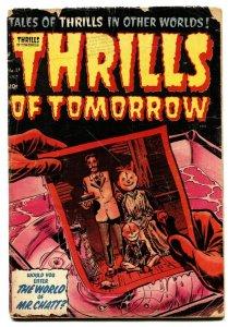 THRILLS OF TOMORROW  #17 1954-HARVEY-POWELL ART-GROTESQUE-HORROR