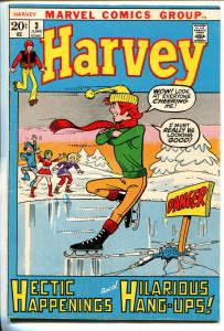 Harvey #3 1970-Marvel-ics skating cover-ice cream splash panel-VG+