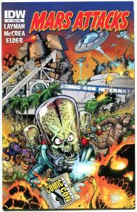 MARS ATTACKS #1 2 3 4 5 6 7 8 9 10, NM, SDCC Variant, 2012, IDW, Aliens,Ray guns