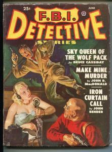 FBI DETECTIVE-06/1949-POPULAR-HARD BOILED-PULP-DETECTIVE-MACDONALD-SAUNDERS-vg+