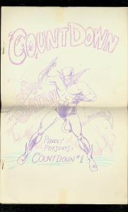 COUNTDOWN COMICS FANZINE #1-1963-BILJO-PAUL GAMBACCINI FN