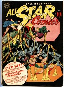 ALL STAR COMICS #18 Simon and Kirby art. Wonder Woman. Spectre. 1943