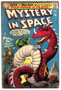 MYSTERY IN SPACE #110 DC 1966 ULTRA  ALIEN SCI FI COVER VG.