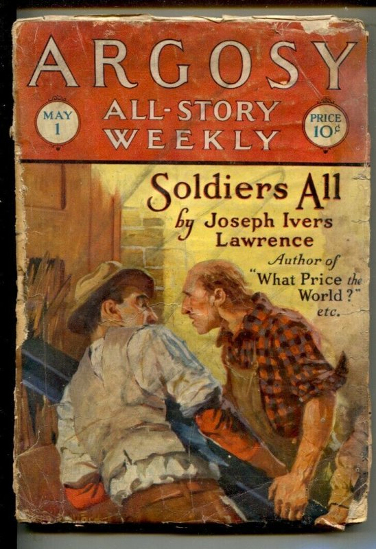 Argosy All-Story Weekly 5/1/1926-Soldiers All by John Ivers Lawrence-Pulp t...
