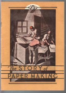 Story Of Paper Making 1930's-history of paper making-pulp paper-VG+
