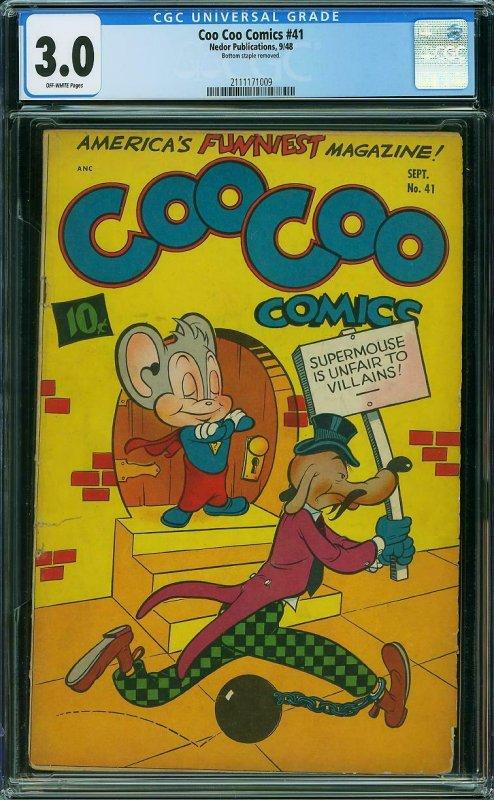 COO COO COMICS #41 CGC 3.0 NEDOR PUBLICATIONS - Frazetta 6 pg story - Sept 1948