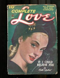 COMPLETE LOVE PULP-APR-1947-GOOD GIRL ART-RUTH HERBERT! G