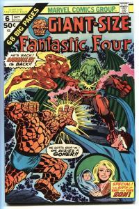 GIANT-SIZE FANTASTIC FOUR #6 -First Annihuilus comic book 1975