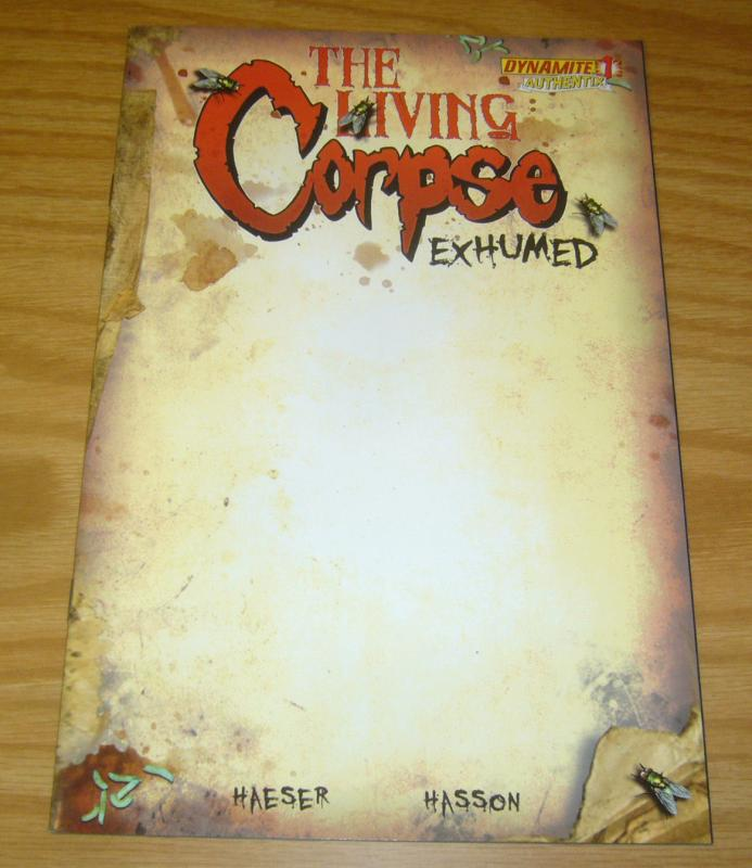 Living Corpse: Exhumed #1 VF/NM authentix blank variant - dynamite 2011 zombie
