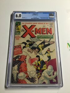 X-men 1 Cgc 6.0 Ow/w Pages Marvel Silver Age 1st Appearance Magneto