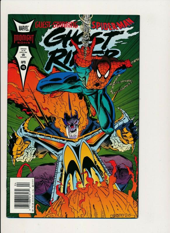 Marvel Comics GHOST RIDER #48, Midnight Sons, Spiderman app 1994 ~ VF (PF475)