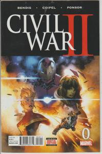 CIVIL WAR 2 #0 - MARVEL - BAGGED & BOARDED
