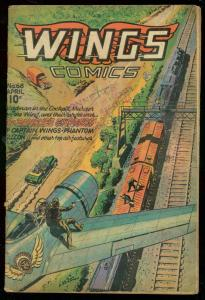 WINGS COMICS #68 1946-FICTION HOUSE-BANSHEE EXPRESS VG