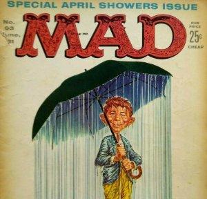 MAD Magazine June 1961 No 63 April Showers Issue John Wayne The Alamo Budweiser