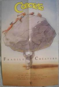 CONCRETE : FRAGILE CREATURES Promo poster, 1991, Unused, more in our store