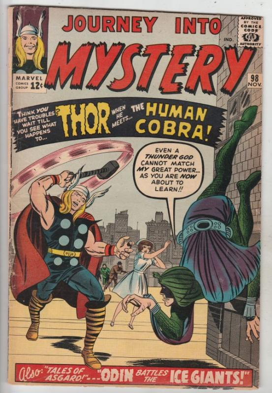 Journey into Mystery #98 (Nov-63) VG+ Affordable-Grade Thor