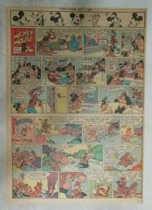 Mickey Mouse Sunday Page by Walt Disney from 4/1/1945 Tabloid Page Size