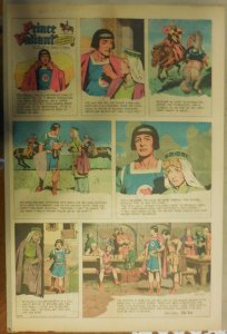 Prince Valiant Sunday by Hal Foster from 4/16/1967 Rare Full Page Size !