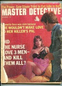MASTER DETECTIVE-DEC. 1971-KILLER-SLAYER-BRUTALIZED-SEX KILLER-TRIPLE M FR/G