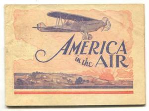 America In The Air 1929- aviation premium comic style art