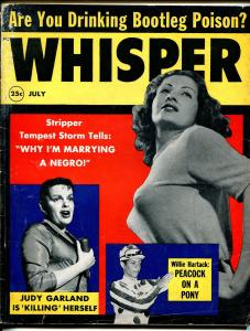 Whisper 7/1959-Judy Garland-Tempest Storm-cheesecake pix-exploitation-G