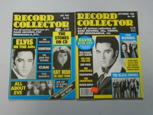 Elvis issues of Record Collector UK magazine 2 different (1989+93)