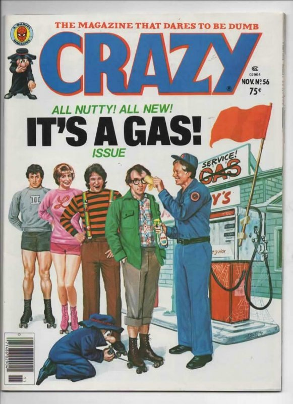 CRAZY #56 Magazine, VF, Woody Allen, Jimmy Carter, 1973 1979, more in store