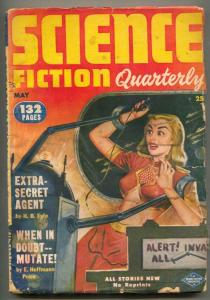 Science Fiction Quarterly Pulp May 1952- Extra Secret Agent