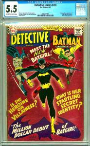 Detective Comics 359 (CGC 5.5) C-O/W pages; Origin/1st app. Batgirl; DC; 1967