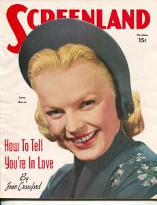 ScreenLand-June Haver-Joan Crawford-Robert Cummings-Ginger Rogers-Oct-1950