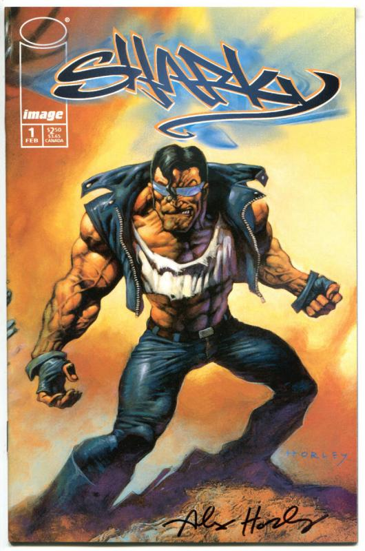 SHARKY #1 2 3 4, NM, Signed by Alex Horley, 1998, more in store, 1-4, C set