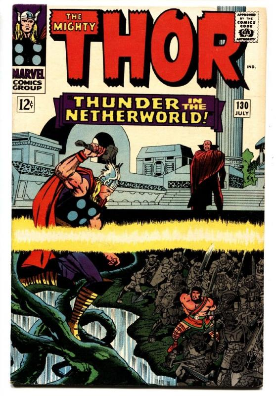 THOR #130 comic book 1966-MARVEL COMICS-KIRBY hercules VF