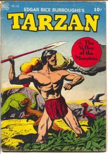 Tarzan #7 1949-Dell-dinosaur cover-Jesse Marsh-Valley of The Monsters-FR