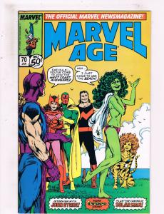 Marvel Age #70 NM Marvel Comics Comic Book Avengers Jan DE25