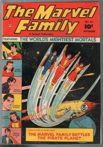 Marvel Family #63 1951-Fawcett-Capt Marvel-Mary Marvel-Capt Marvel Jr-FN-