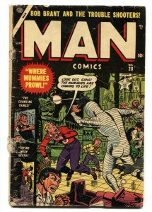 Man #28 1953-Atlas-Rare last issue Horror-Mummy cvr