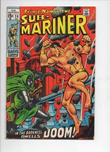 SUB-MARINER #20, FN+, Buscema, Dr Doom, 1968 1969, more in store
