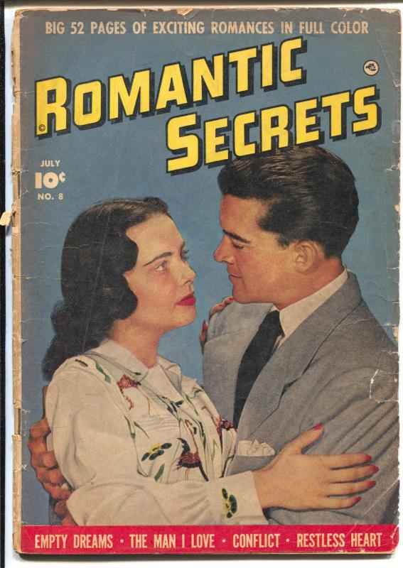 Romantic Secrets #8 1950-spicy art-photo cover-G