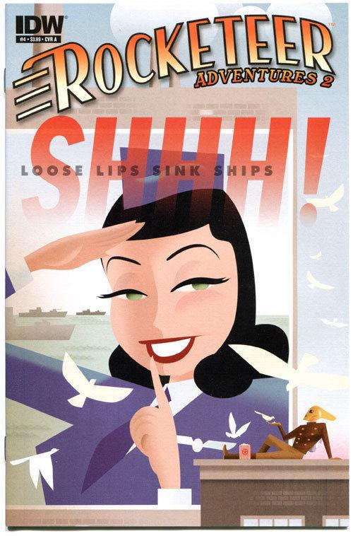 ROCKETEER Adventures 2 #4 A, VF+, Dave Stevens, Bettie Page, 2012, more in store