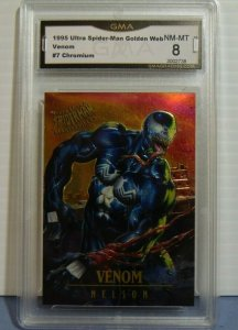1995 Spider-Man Masterpieces Fleer Ultra Venom Nelson Art Chromium Card #7 NM-MT