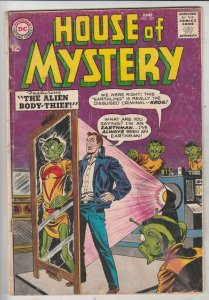 House of Mystery #135 (Jun-63) VG Affordable-Grade Featuring The Alien Body-...