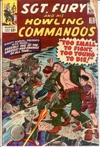 SERGEANT FURY 15 GOOD DITKO Feb. 1965 COMICS BOOK
