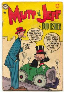 Mutt and Jeff #76 1955 Bud Fisher- DC Golden Age Humor VG